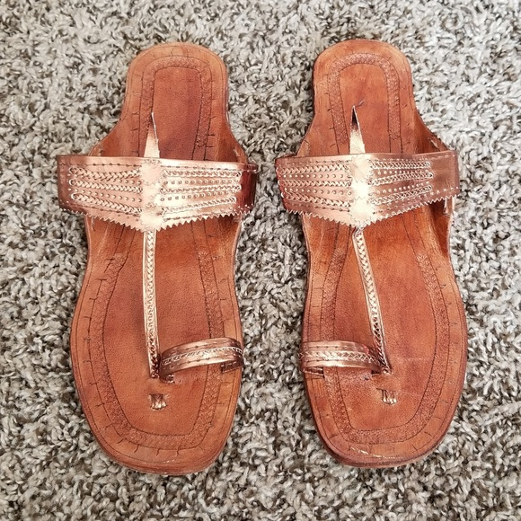 d3508da5bb09 handmade Shoes - Leather Indian Sandals Size 7 or 7 1 2